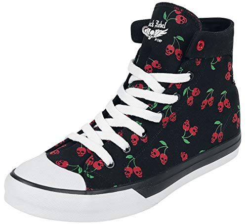 Rock Rebel by EMP Walk The Line Frauen Sneaker high schwarz EU40 Textil Basics, Rockabilly, Rockwear