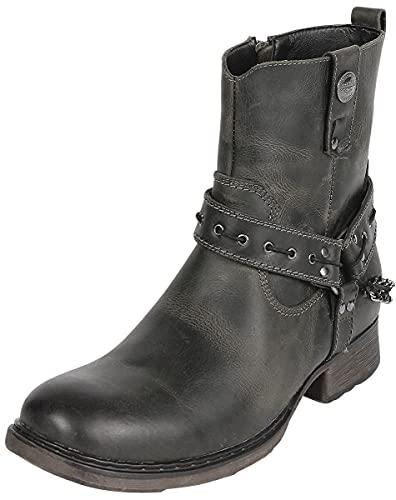 Rock Rebel by EMP Thunder Road Männer Boot dunkelbraun EU44 Leder Basics, Rockabilly, Rockwear