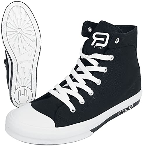 RED by EMP Walk The Line Unisex Sneaker high schwarz/weiß EU44 Textil Basics, Rockabilly, Streetwear