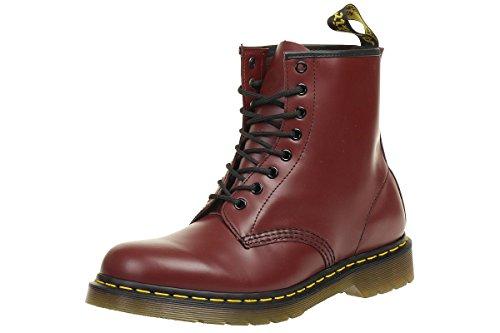 Dr. Martens 1460 Glatt, Erwachsene Unisex Stiefel,, Rot (Cherry Red), 40 EU