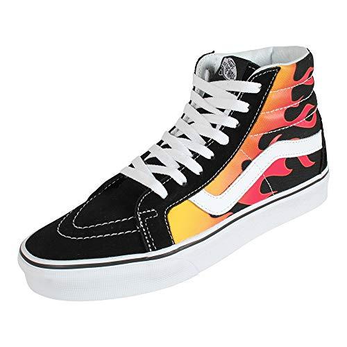 Vans SK8-Hi Flame Sneaker schwarz/rot EU44 Leder, Textil Rockabilly, Rockwear, Streetwear