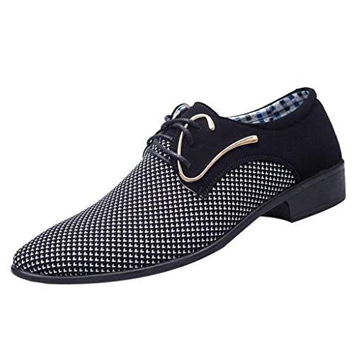 CixNy Herren Anzugschuhe Oxford, Lederschuhe Derby Business Casual Schuhe England Tuch Loafers Hochzeit...