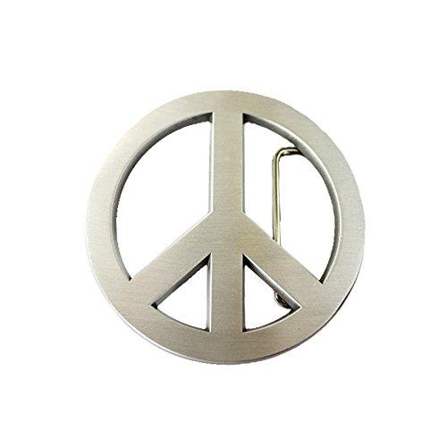 eeddoo Gürtelschnalle - Peace - Friedenszeichen - Buckle (für Wechselgürtel für Damen und Herren | Belt Frauen...