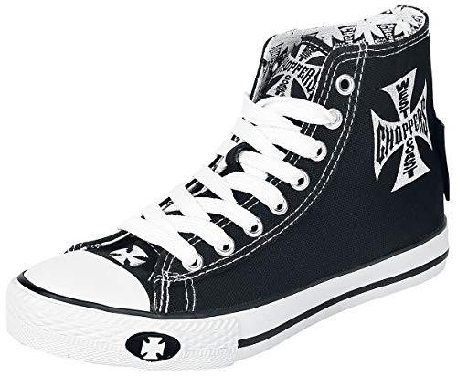 WEST COAST CHOPPERS Iron Cross Männer Sneaker high schwarz/weiß EU42