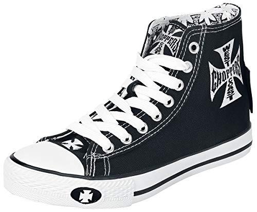 WEST COAST CHOPPERS Iron Cross Männer Sneaker high schwarz/weiß EU42