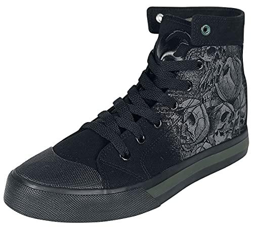 Black Premium by EMP Schwarze Sneaker mit Skull-Print Unisex Sneaker high schwarz EU39 Textil Basics