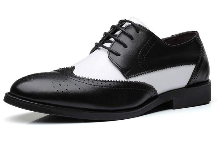50er Jahre Retro Vintage Rockabilly Schuhe Herren Oxfords schwarz weiß