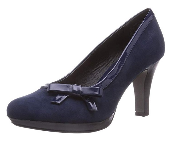 Bugatti Damen Pumps 50er Jahre Retro Vintage Rockabilly Schuhe blau High Heels